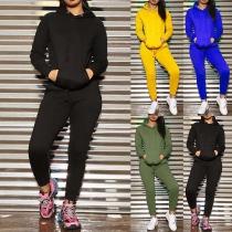 Ensemble Sport Décontracté Stylé à la Mode :Pull à Capuche+Pantalon