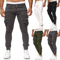 Pantalon Décontracté Stylé à la Mode Pour les Hommes