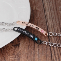 Creative Style Letters Engraved Bracelet