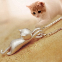 Cute Cartoon Cat Shaped Pendant
