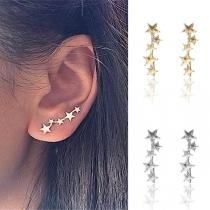 Boucles d'oreilles en Forme d'étoile de Style Simple