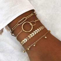 Fashion Gold-tone Alloy Bracelet Set 4 pcs/Set