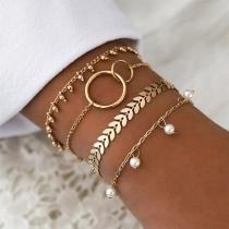 Fashion Pearl Pendant Bracelet Set 4 pcs/Set