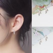 Fresh Style Tree-branch Shaped Stud Earrings