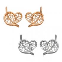 Fashion Hollow Out Leaf Shaped Stud Earrings