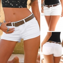 Sexy Mini Short en Jean Taille Basse