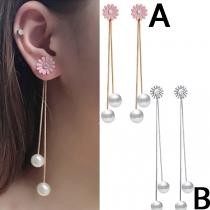Boucles d'oreilles à Pompon à la Mode