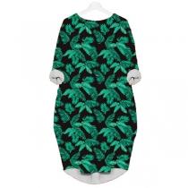 Fashion Long Sleeve Round Neck Printed Dress