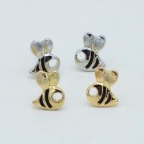 Cute Style Bee Shaped Stud Earrings