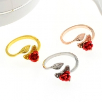 Sweet Style Rose Shaped Open Ring