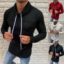 Chemise pour Homme à Manches Longues et Col Bénitier