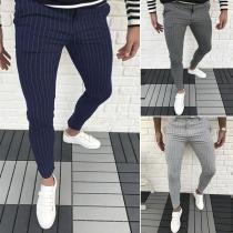 Fashion High Waist Striped Man's Pants