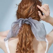 Corde à Cheveux Bowknot de Couleur Unie de Style Simple