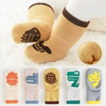 Chaussettes 2 paires / ensemble Antidérapant pour enfants avec Dessin Animé Mignon Imprimé