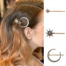 Ensemble d'épingles à Cheveux 3 Pièces / Ensemble avec Strass de Style rétro