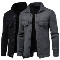 Manteau en Tricot à Simple Boutonnage pour Homme