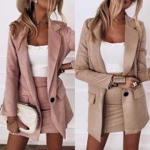 Ensemble de Deux Pièces de Style OL: Blazer + jupe