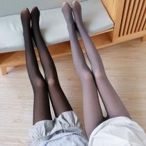 Collants de Bas de Doublure en Peluche Taille Haute à la Mode