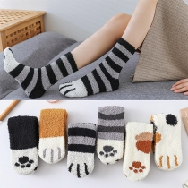 Chaussettes en Peluche Imprimées de Dessin Animé Mignon