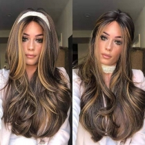 Fashion Color Gradient Middle-length Curly Wigs
