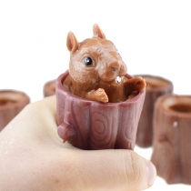 Cute Style Stump Squirrel Shaped Squeeze Vent Toys