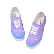 Chaussures gradient bleu ciel étoilé toile