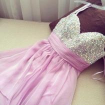Sexy Sweetheart Chiffon Prom Beadings Dress
