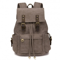 Fashion Solid Color Canvas Backpack Travelling Bag