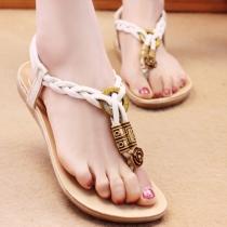 Sandales à Talons Plats Bohémien-Style à la Mode