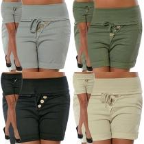 Short Stylé à la Mode à la Taille Haute Pour les Femmes