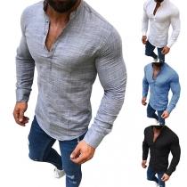 Tee-Shirt Stylé à la Mode à Simple-Boutonnage Pour les Hommes