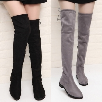 Fashion Flat heel Round Toe Over-the-knee Boots