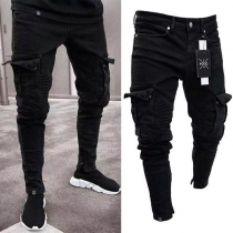 Fashion Side-pocket Slim Fit Men's Jeans