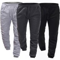 Pantalon Décontracté Stylé à la Mode Elastique Pour les Hommes