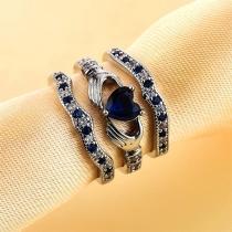 Fashion Rhinestone Inlaid Ring Set 3 pcs/Set