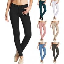 Pantalon Moulant Stylé à la Mode Pour les Femmes
