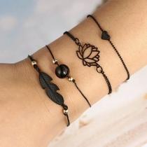 Bracelet 4-Pièces Doux Stylé à la Mode