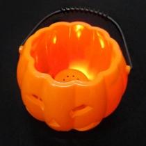 Sucrier/Seau de Bonbon Décoration d'Halloween dans une Forme de Citrouille avec Eclat de LED