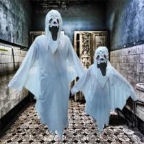 Costume d'Halloween Costume de Performance de Soirée Terrible Spectre Blanc