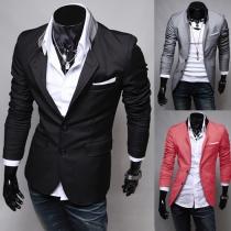 Blazer à la Mode à Manches Longues Pour les Hommes