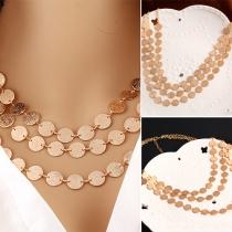 Bijoux Fashion pièces multicouches pull collier féminin