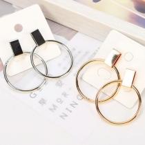 Boucles d'Oreilles Chic Stylées à la Mode avec un Design de Cercle