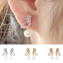 Boucles d'Oreillles/Bijoux / Accessoires Pour Femmes Chic à la Mode Bling-Bling Style avec une Perle