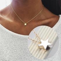 Collier/Bijoux /Accessoires Pour Femmes Chic à la Mode avec un Pendentif de Pentacle