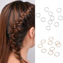 Fashion Gold/Silver-tone Circle-shaped Hair Accessories 10pcs/Set