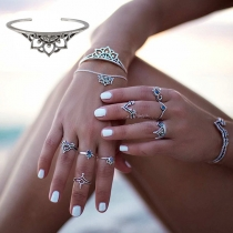 Bohemian Style Hollow Out Lotus Shaped Alloy Bracelet