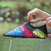 Chaussures Imperméables Stylées Chic à la Mode à Imprimés Colorés à Talons Plats