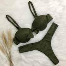 Maillot de Bain Deux-Pièces à la Mode Sexy Rembourré avec Armature