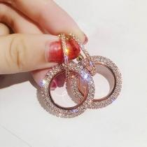 Boucles d'Oreillles/Bijoux / Accessoires Pour Femmes Chic à la Mode En Forme de Cercle