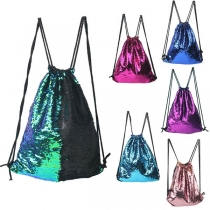 Fashion Sequin Drawstring Outdoor Backpack